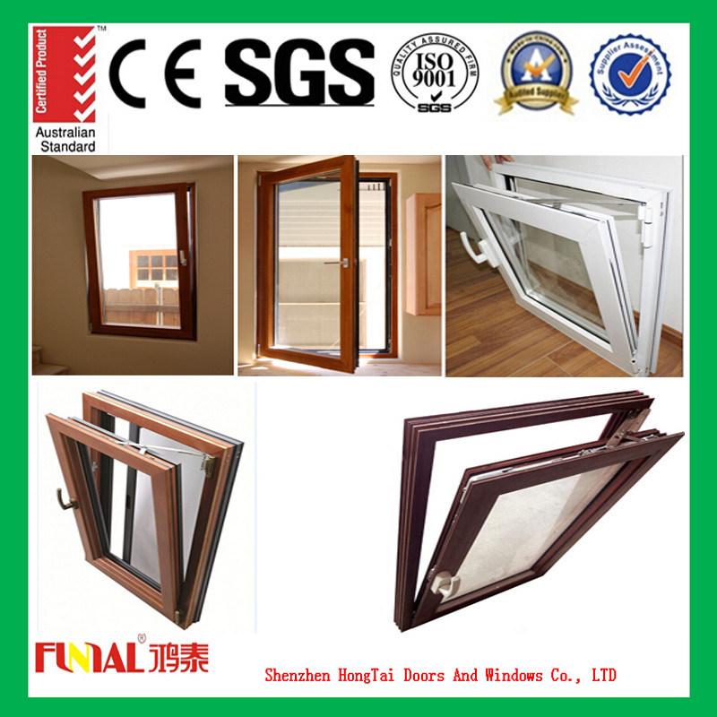 Red Wood Custom Color Aluminium Window