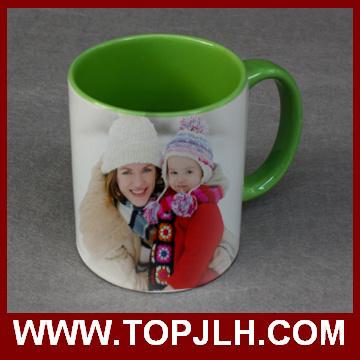 Wholesale Sublimation 11 Oz Double Colorful Ceramic Mugs