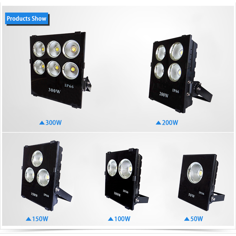 200W COB LED Spotlight Outdoor Lighting Flood Light