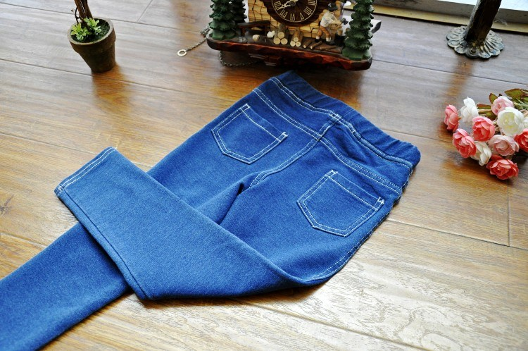Kids Denim Jeans Pants Hight Quality with Elastic Waist