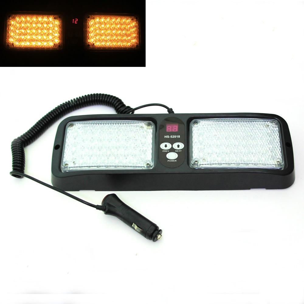 86 led super bright truck visor car strobe lights flash light panel. Black Bedroom Furniture Sets. Home Design Ideas