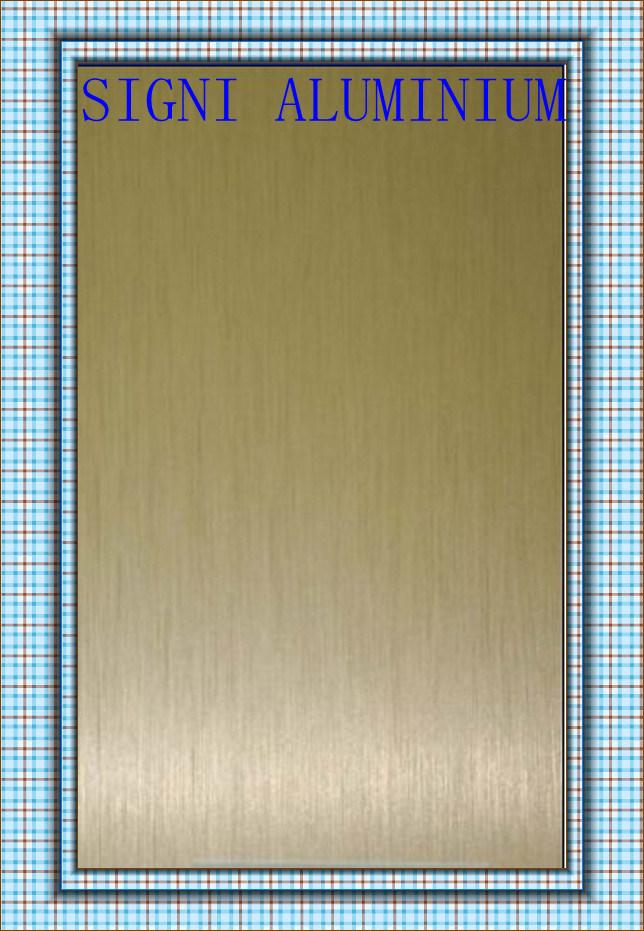 China Anodized Gold Brush Finish Aluminum Sheet Coil