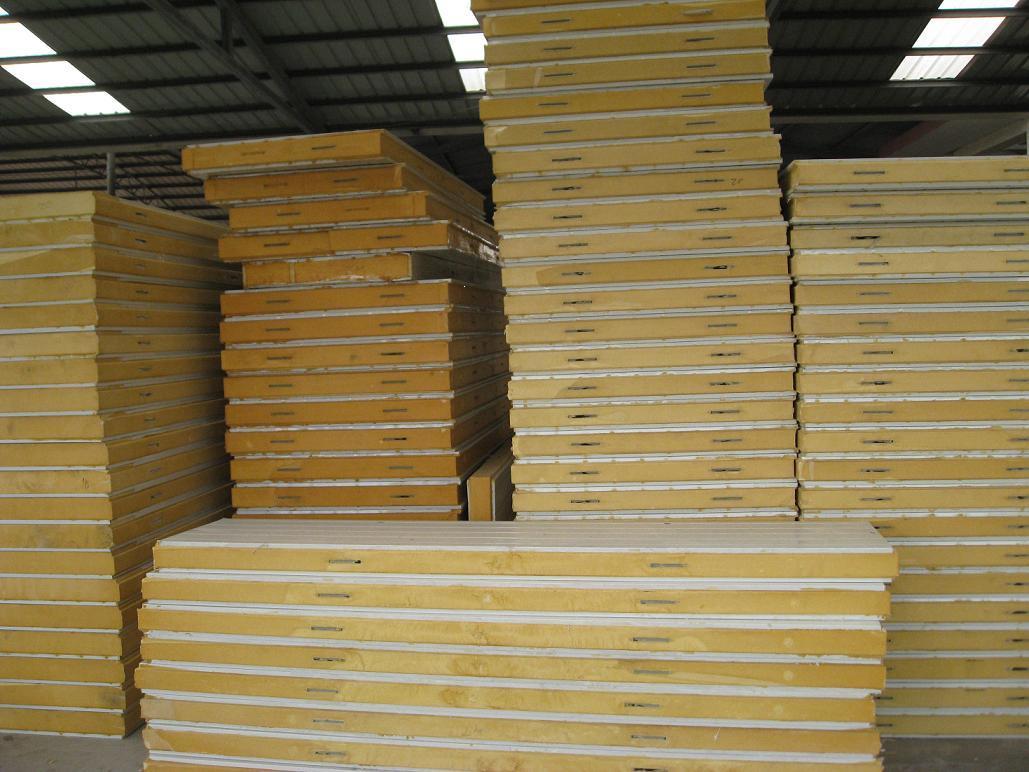 Polyurethane Sandwich Panel : China pu sandwich insulated panel for refrigerate photos