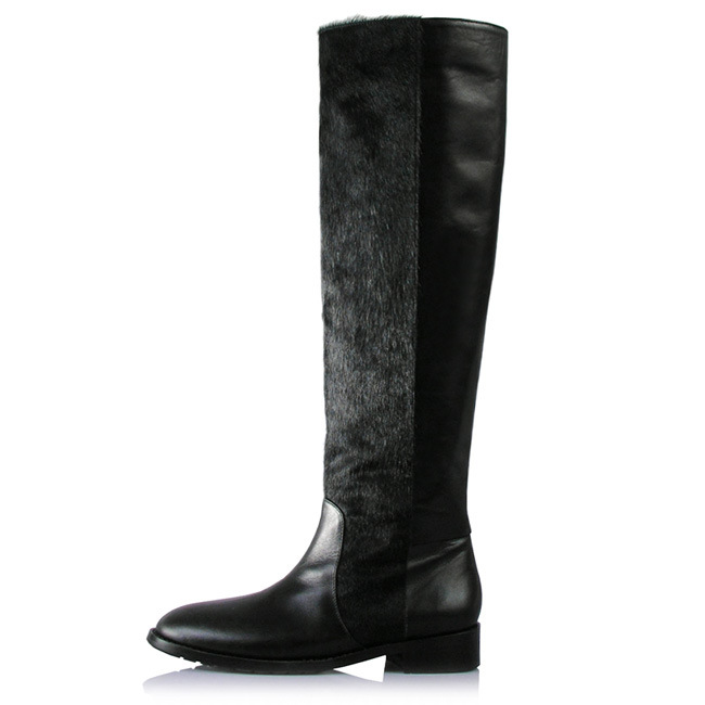 china lotoyo high knee genuine leather fashion hair boots