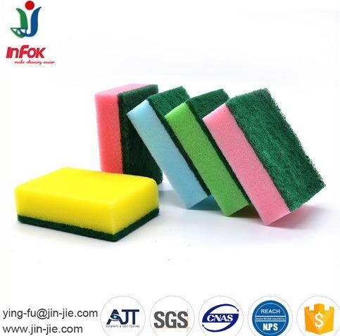 Color Kitchen Usage Cleaning Sponge Scourer