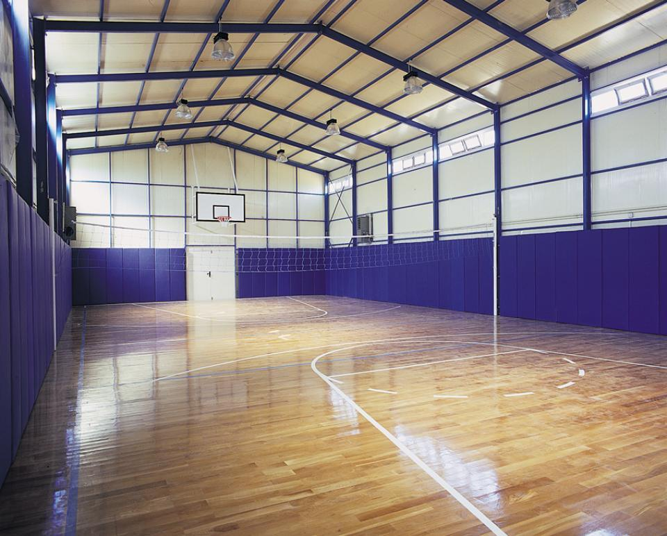 China prefabricated steel structure gymnasium sports for Building a basketball court