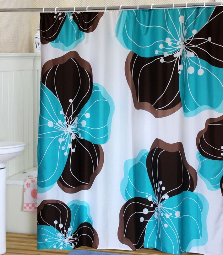 Plastic Polyester / EVA Shower Curtain