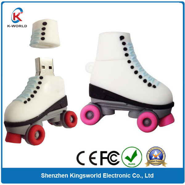PVC Skating Shoes USB Pen Drive with CE, FCC, RoHS Proved