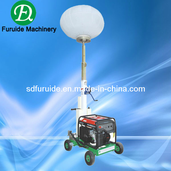 Portable Telescopic Light Tower: China Diesel Generator Balloon Telescopic Portable Light