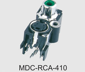 Mini DIN Connector Combo RCA Jacks (MDC-RCA-410)