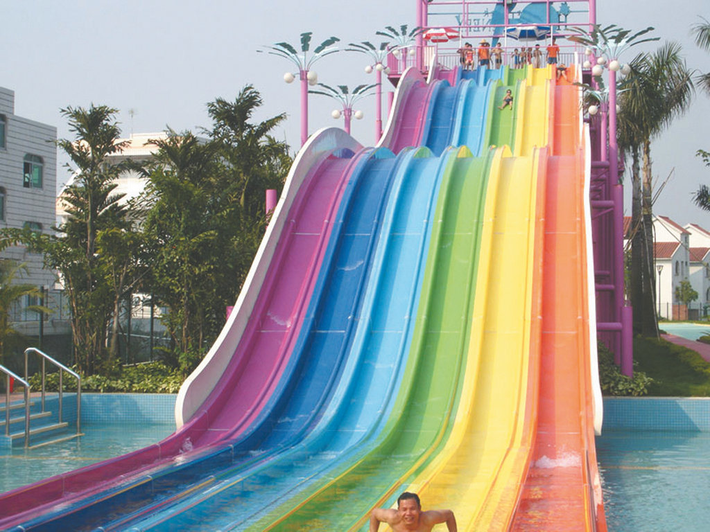 China Racing Rainbow Slide For Waterpark Hzq 02 China