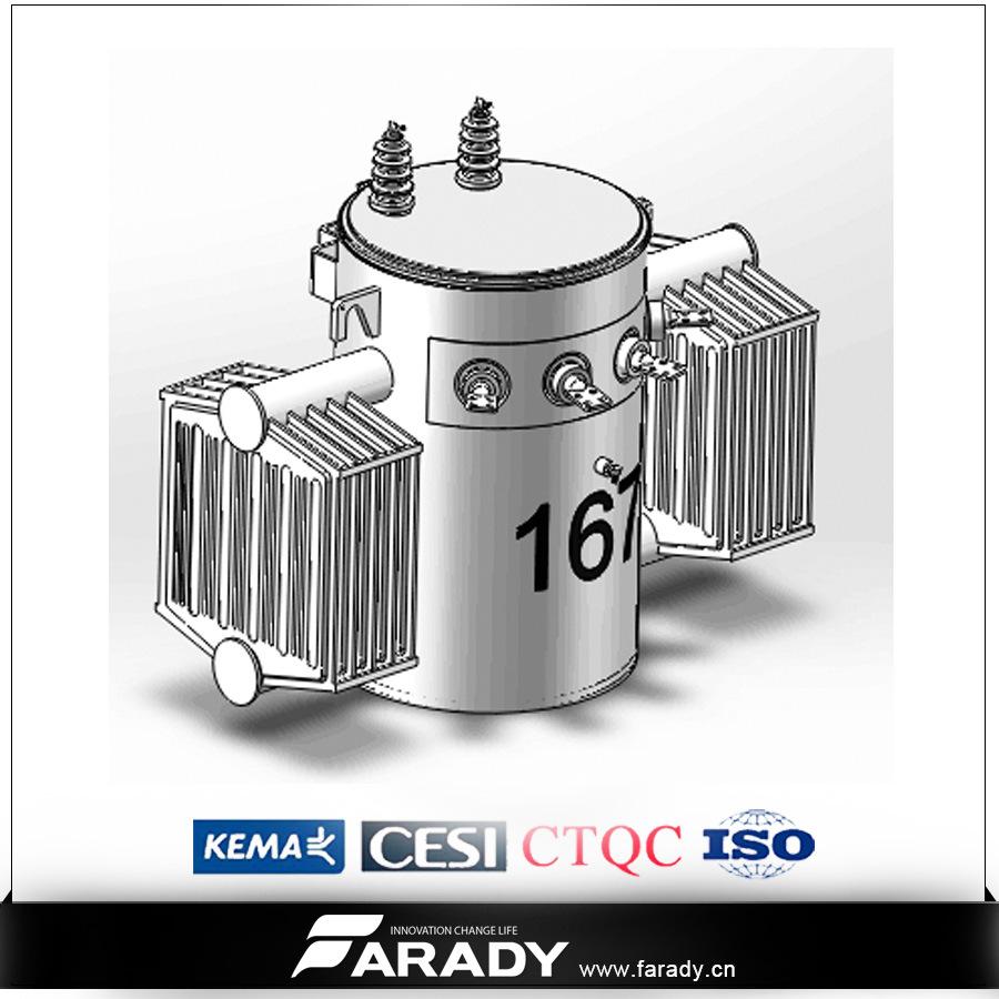 13.8kv 7970V 167kVA Oil Immersed Overhead Distribution Transformer