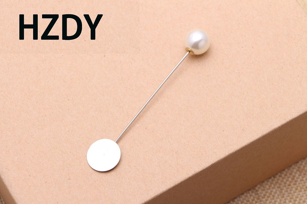 Lapel Pin/Brooch with 1.50cm Wafer and Pearl