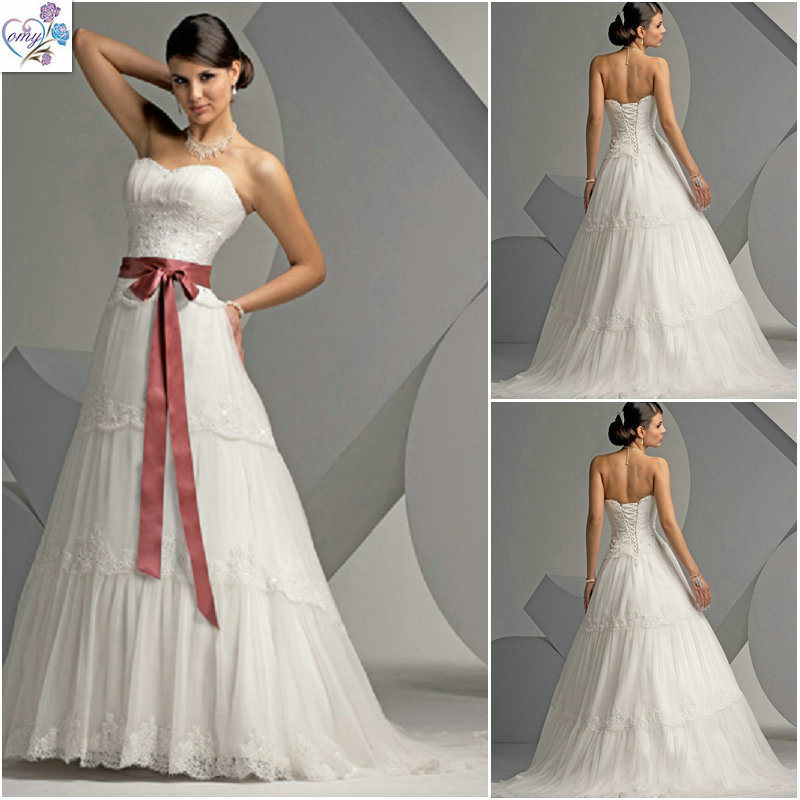 Layered Tulle Wedding Dresses : Layered tulle lace applique wedding dresses wd china