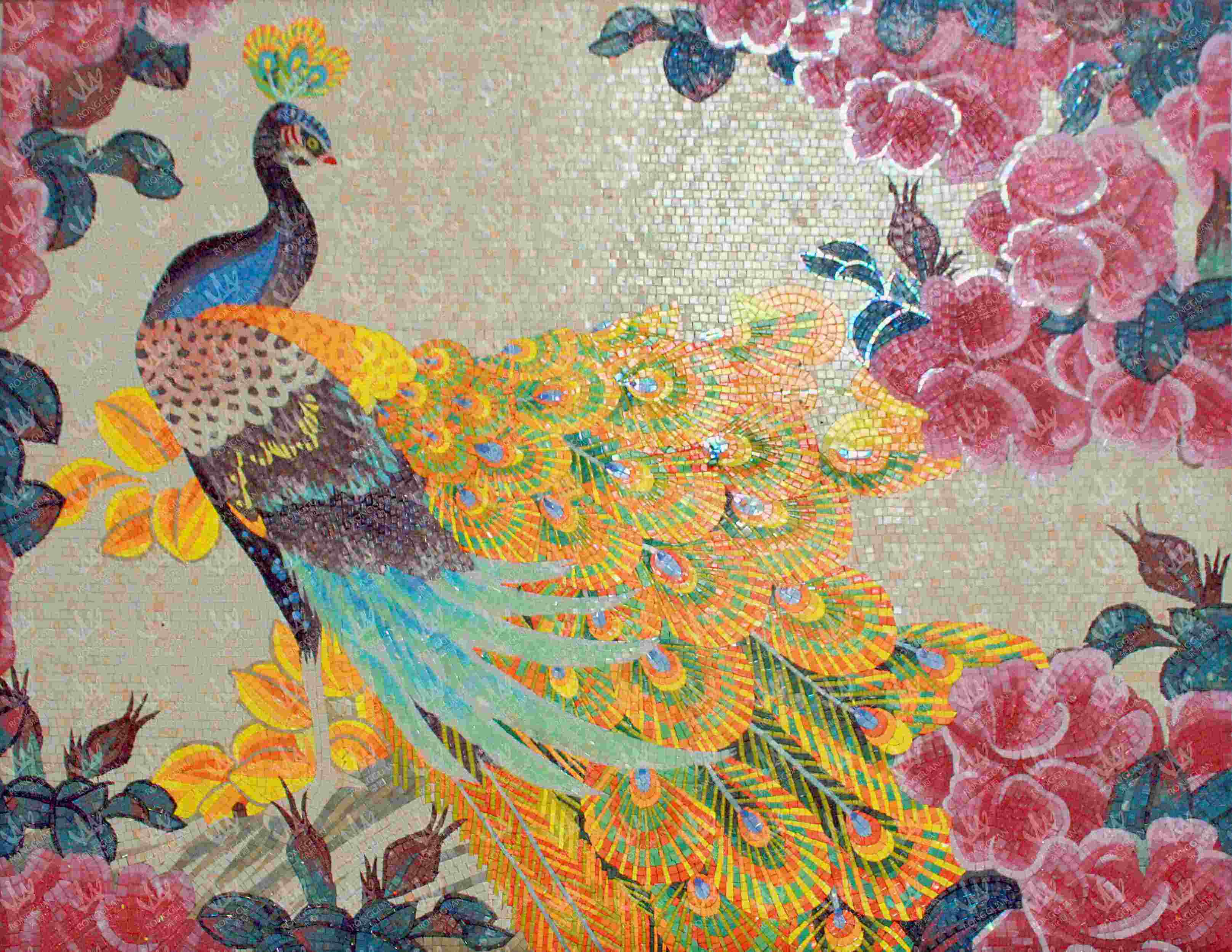 China art design picture glass mosaic tile photos for Mosaic art pictures