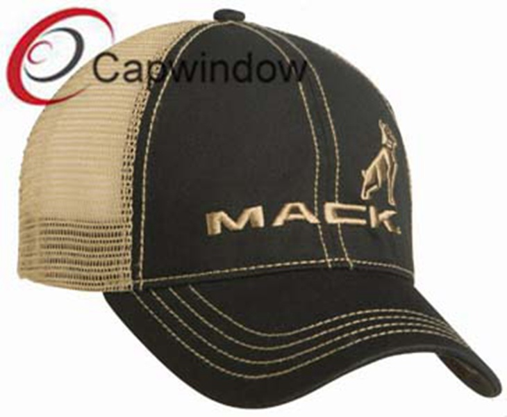 Brown Simple Breathable Cotton Leisure Sport Trucker Mesh Cap
