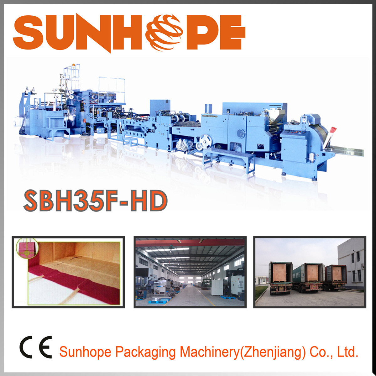 Sbh35f-HD Automatic Block Bottom Handle Bag Making Machine