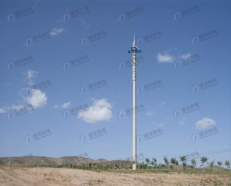 GSM Galvanized Antenna Monopole Telecommunication Steel Tower