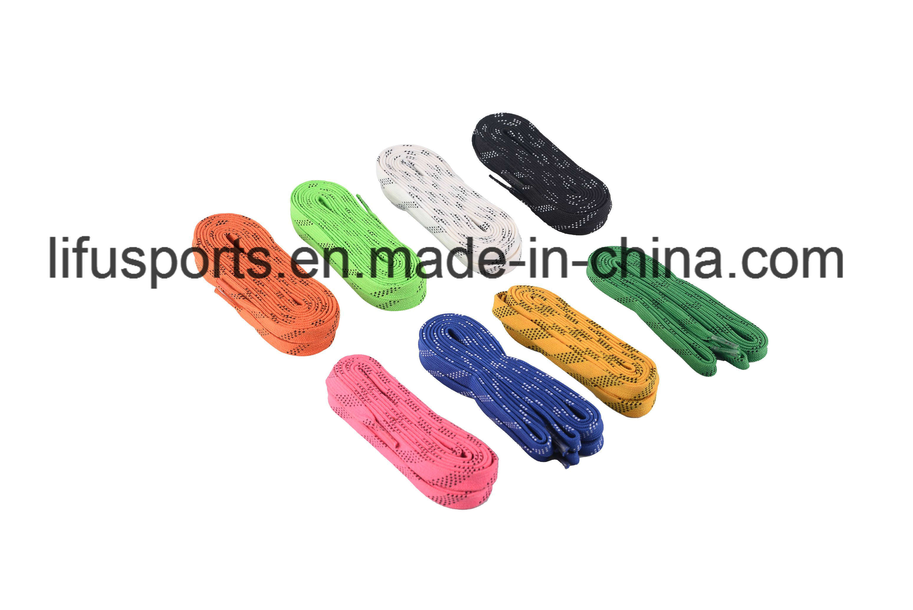 Customized Size Multicolor Waxed Cotton Hockey Lace