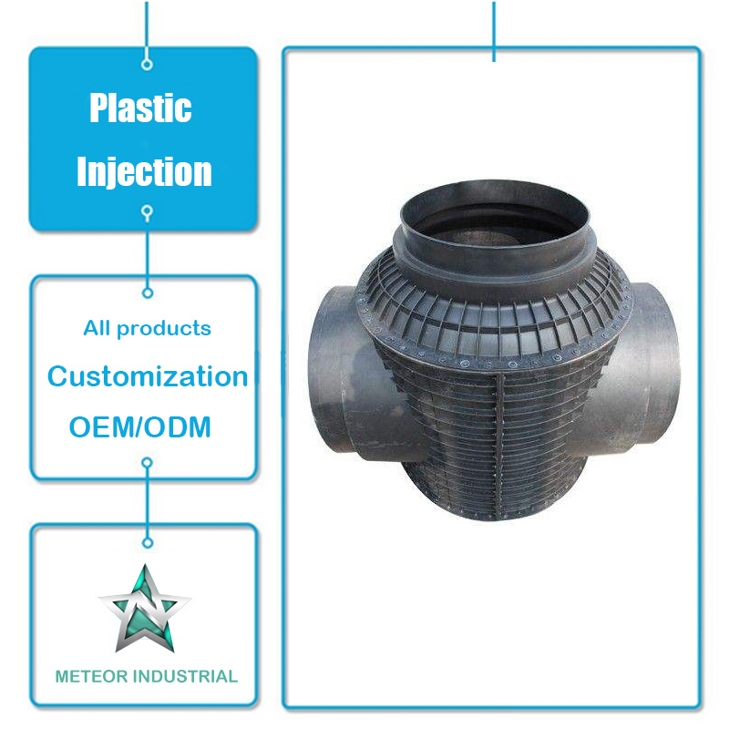 Customized Industrial Parts Plastic Elbow Tee Pipe Fitting Plastic Injection Molding