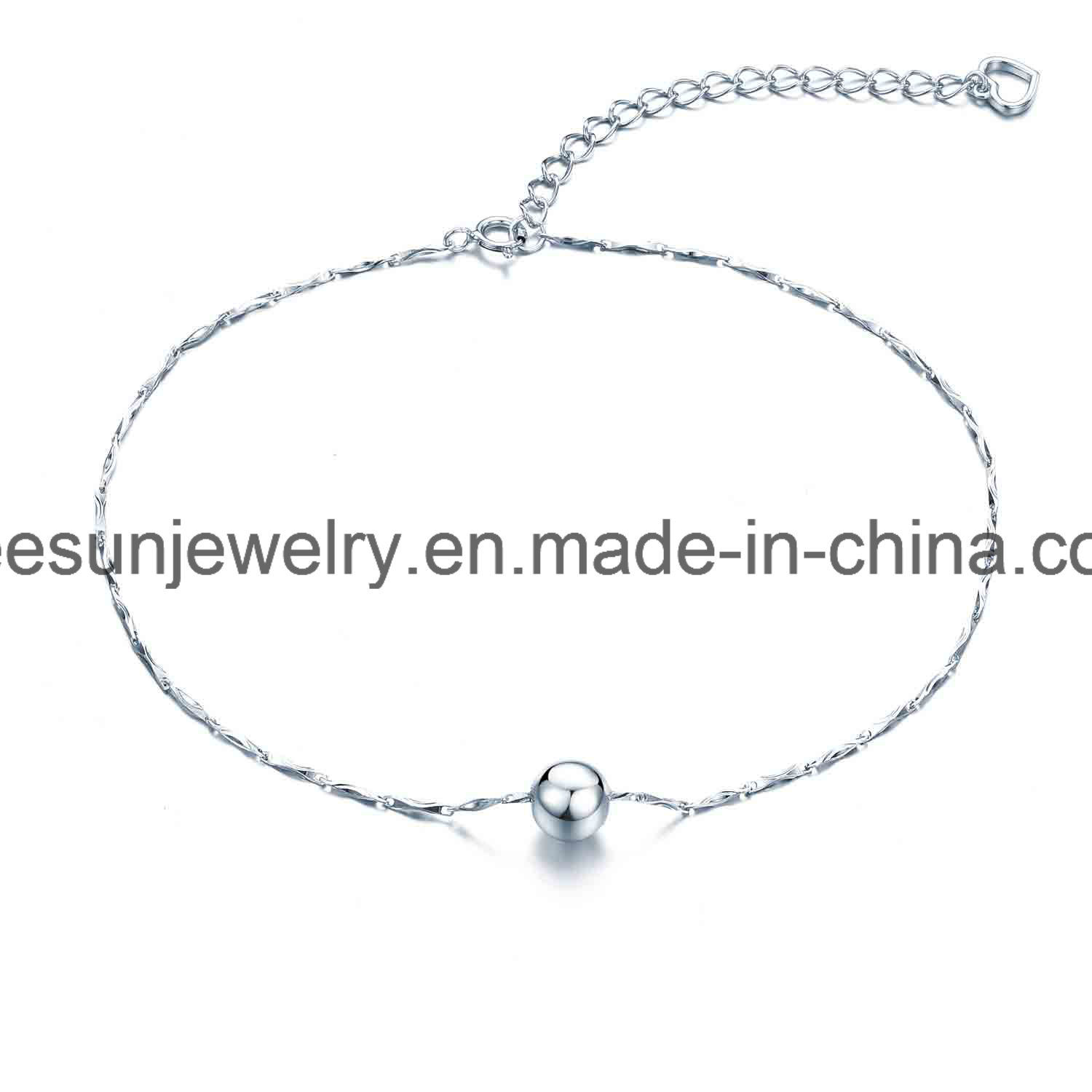 925 Sterling Silver Jewelry Light Weight Good Selling Bracelet and Anklet