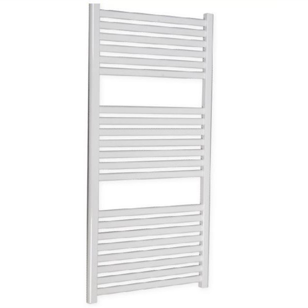 White Oval Straight Towel Radiator Bathroom Radiator