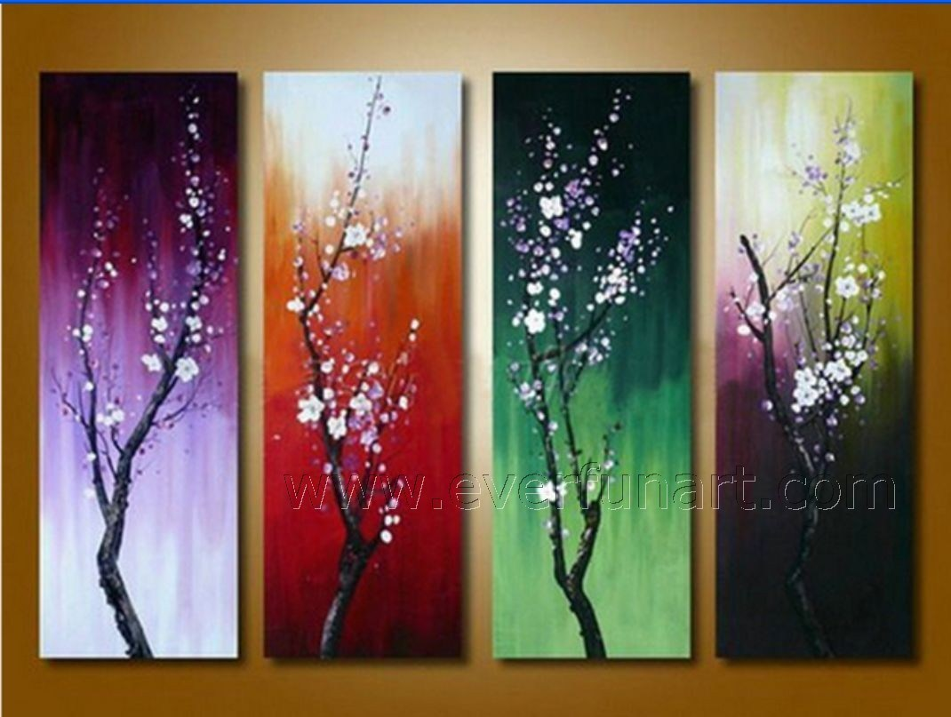 china beautiful canvas art seasons flower oil painting on