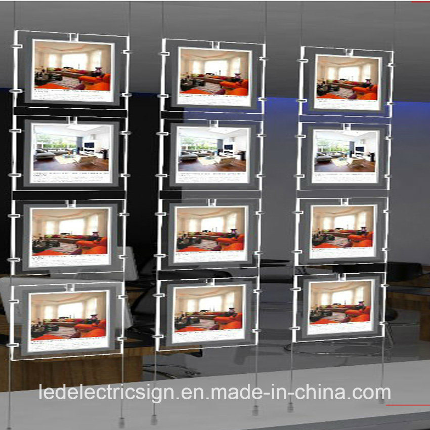 Floor Display Window with Crystal LED Real Estate