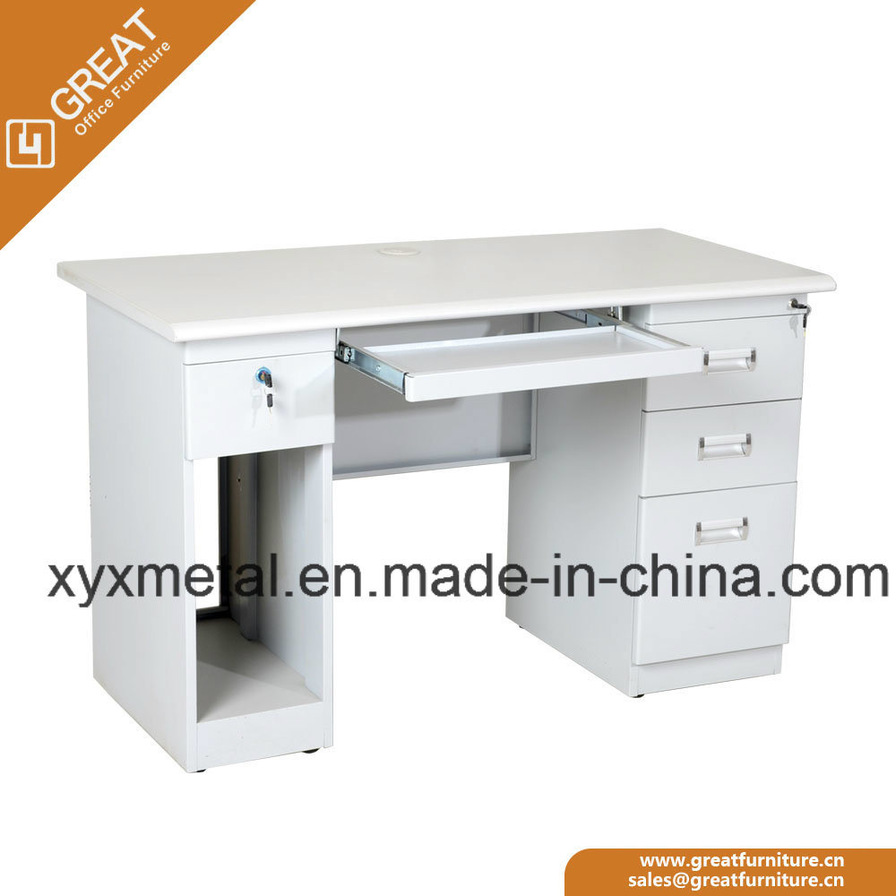 Office Computer Desks White Computer School Office Metal Computer Table with Drawers