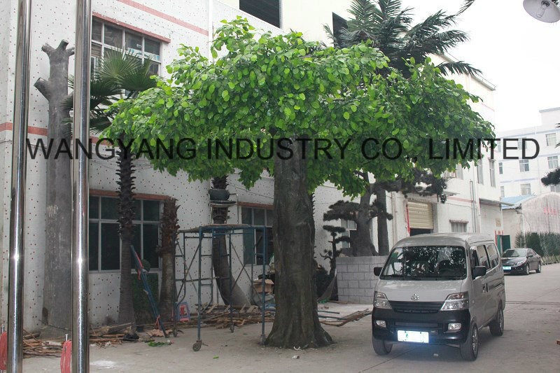 Factory Hot Sale Fake Artificial Synthetic Outdoor Gold Banyan Ficus Tree