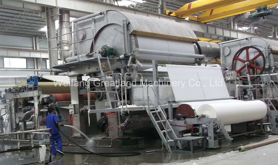 5600mm Automatic Single Dryer Cylinder Tissue Paper Making Machine Tissue Line 12-16tpd