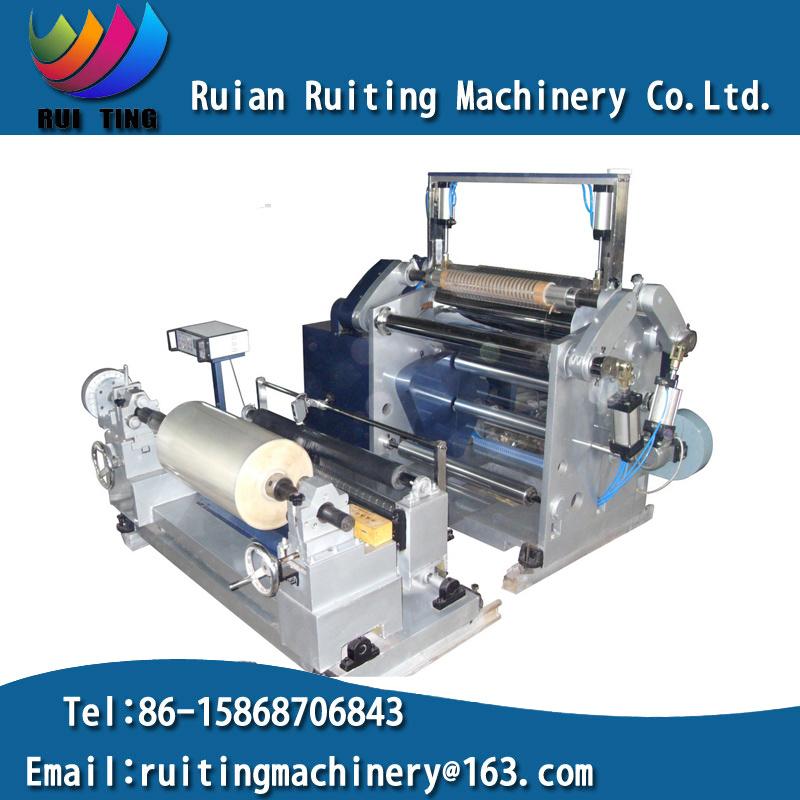 Pmfq-900 Centre Surface Reel Coil Plastic Film Slitting Rewinding Machine