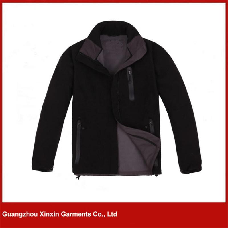 Men Custom Outdoor Fleece Lined Clothing Softshell Jackets (J70)