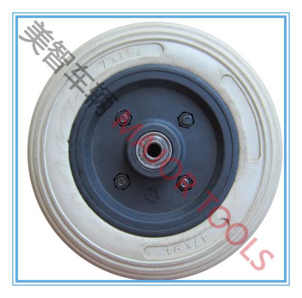 Plastic Rim 7 Inch PU Foam Rubber Stroller Wheel 7X2.5