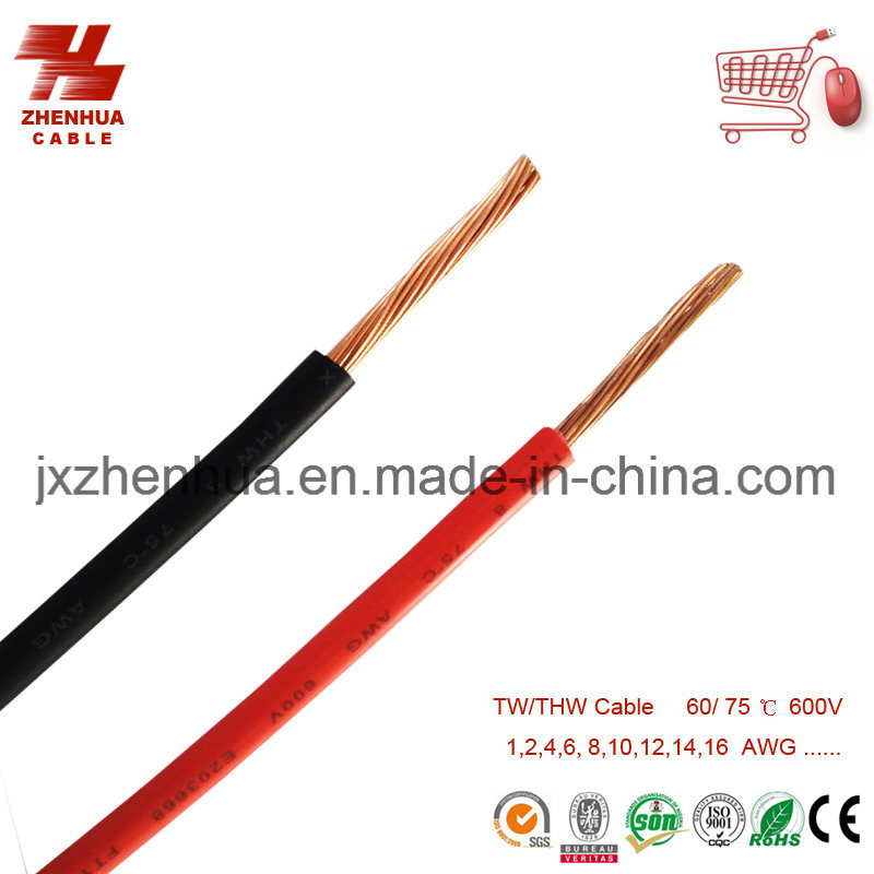 8AWG 10AWG 12AWG CCA Thw Cable for Venezuela Market