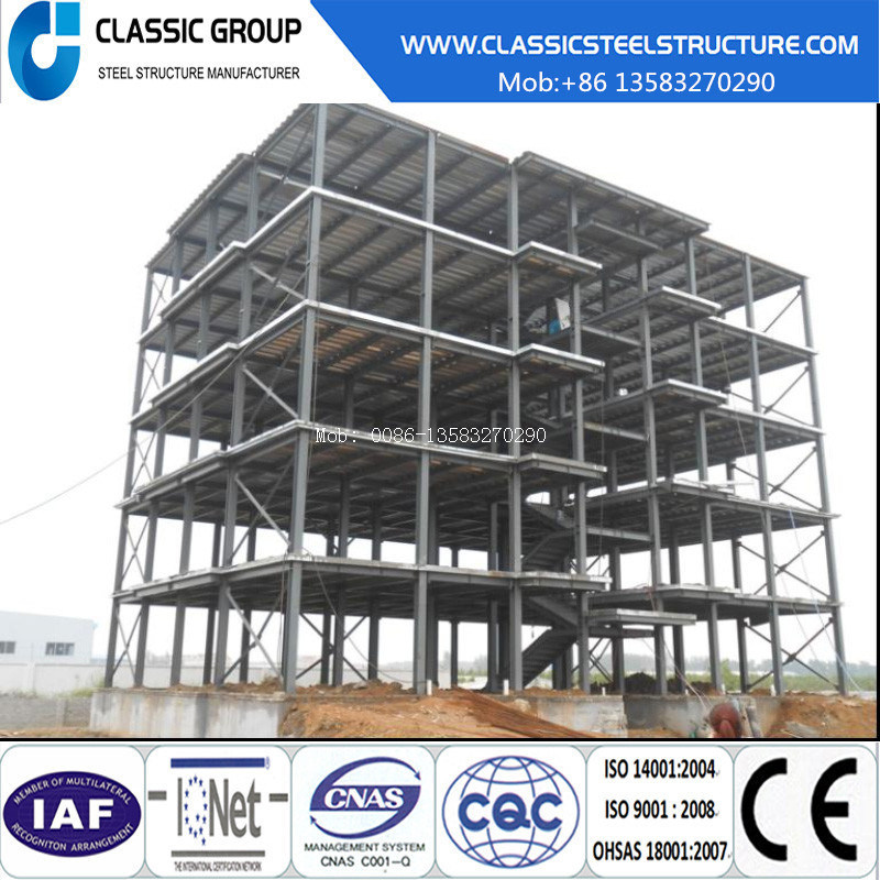 Four-Floor Prefab Industrial Steel Structure Warehouse/Workshop/Hangar/Factory