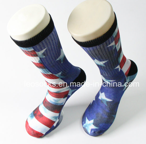 3D Printed Socks 360 Wholesale Digital Print Men Soccer Socks Sublimation Basketball Socks
