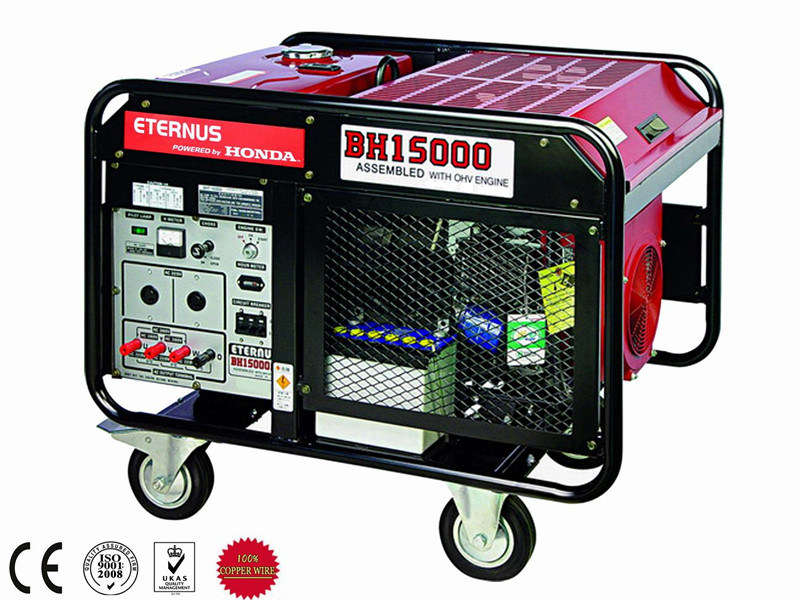 High Quality 12kw 12kVA Portable Gasoline Generating Set (BH15000)
