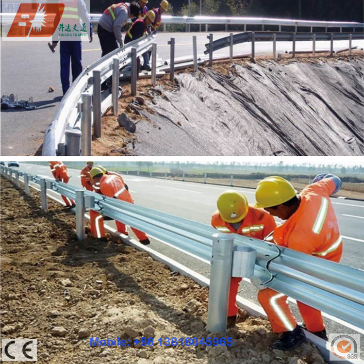 Steel Highway Guard Rail, Galvanized Guardrail Beam