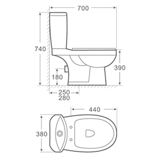 Washdown Two-Piece Toilet (2020)