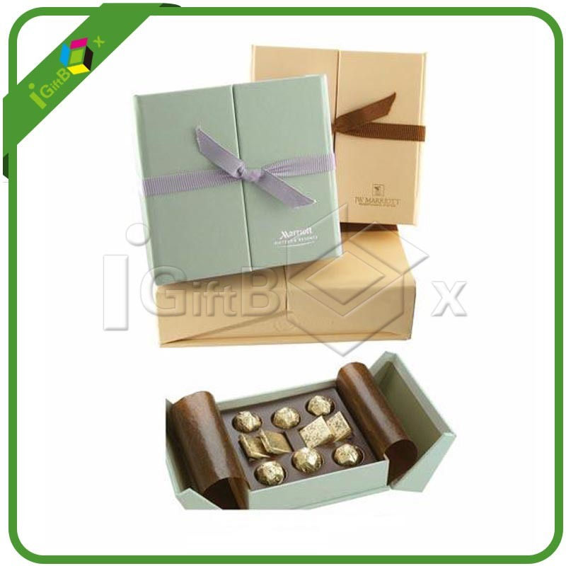 Food Grade Fancy Chocolate Paper Packaging Gift Chocolate Box for Candy/Cake Packing