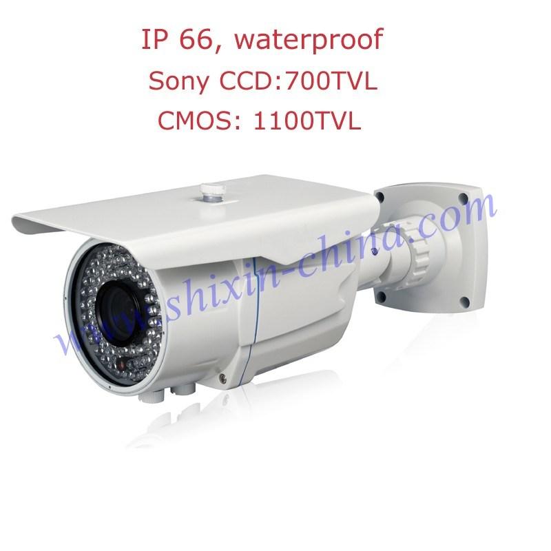 Bullet Security Camera Sony Effio-E 700tvl CCD with OSD Menu 36PCS LED IR Night Vision Waterproof Indoor&Outdoor 2.8-12mm Adjustable Lens+1 Yr Warranty