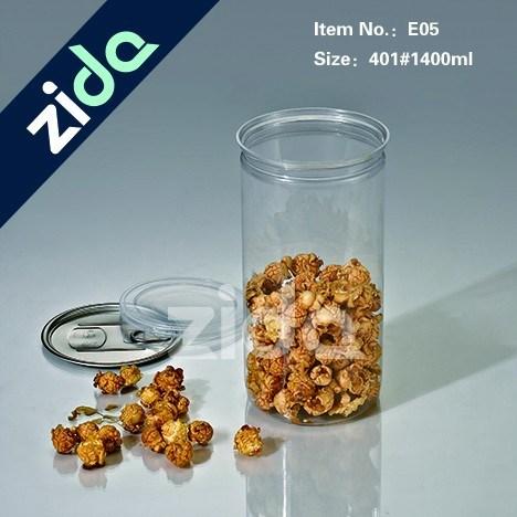 1400ml Transparency Color Plastic Pet Jar