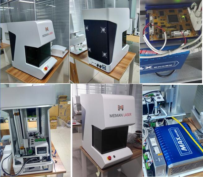 20W/30W Fiber Laser Marking Machine for Metal with Rotary Device