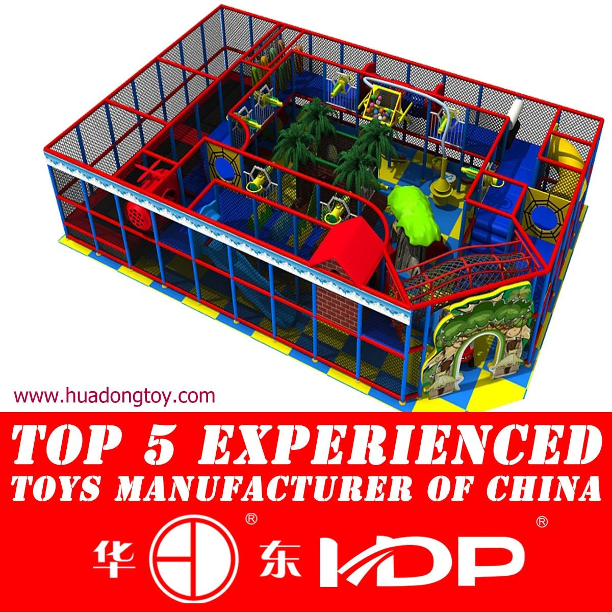 Indoor Playground and Trampoline Assembled