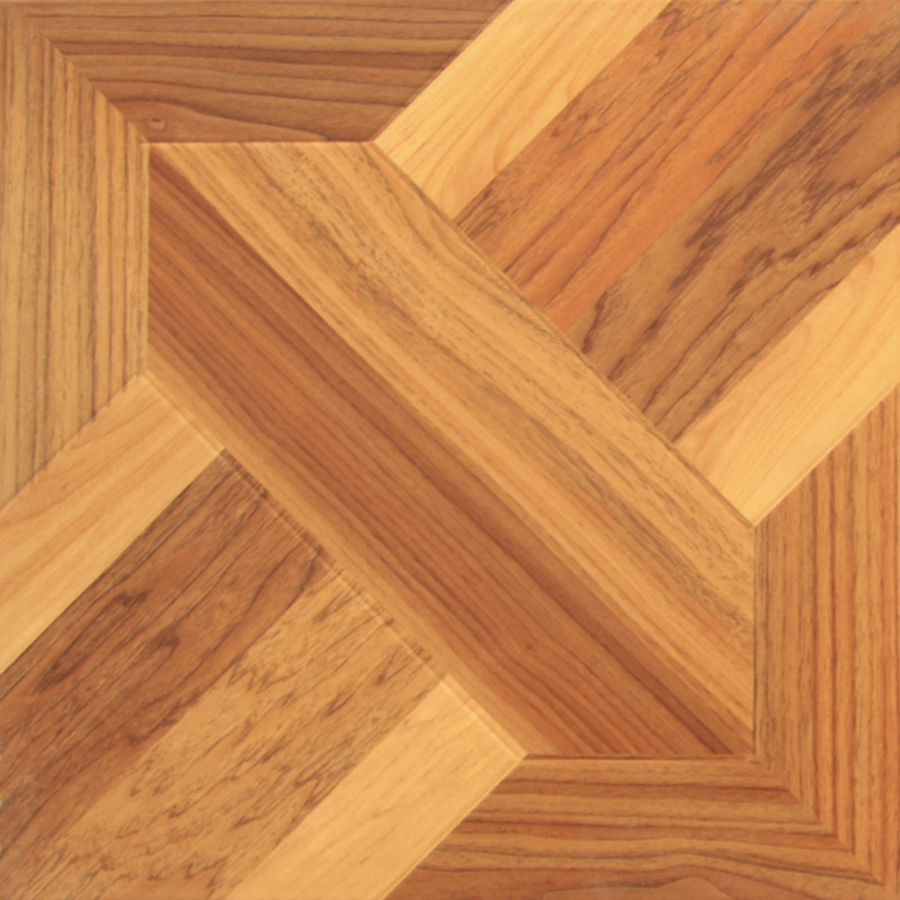 China hot collection colors for laminate parquet flooring for Square laminate floor tiles