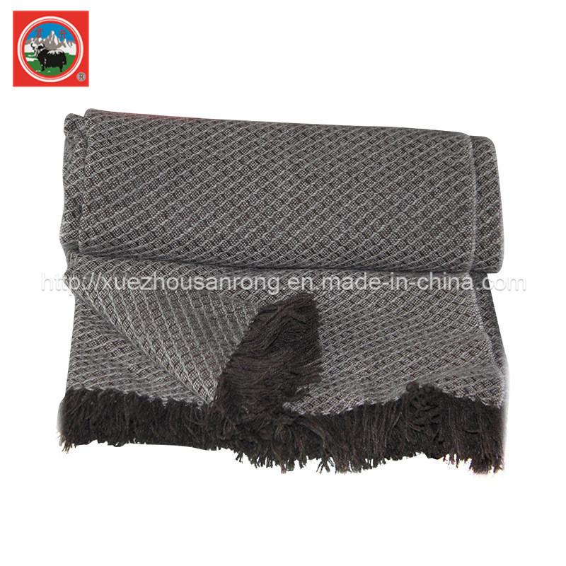 Yak Jacqard Blanket/ Cashmere Fabric/ Camel Wool Textile/Bedding/Bed Sheet