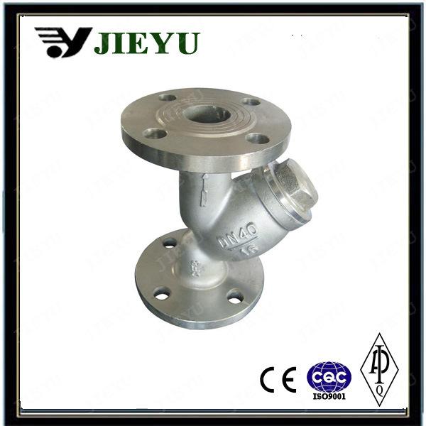 DIN Pn16 Cast Steel Flange Y Type Strainer