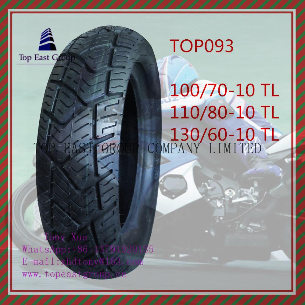 110/70-10tl, 110/80-10tl, 130/60-10tl Tubeless 6pr Nylon Motorcycle Tire