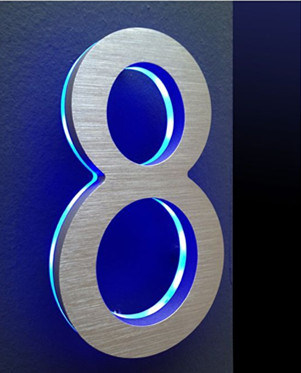 Back Lit Acrylic LED Stainless Steel Channel Letters for Sale